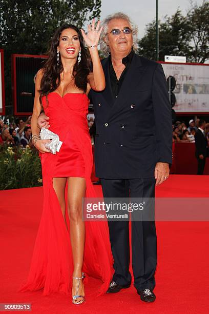 Elisabetta Gregoraci and Flavio Briatore attend the Opening Ceremony and 'Baaria' Premiere at the Sala Grande during the 66th Venice International...