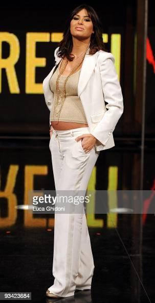 Elisabetta Gregoraci appears on the Italian television show 'Chiambretti Night' on November 25 2009 in Milan Italy