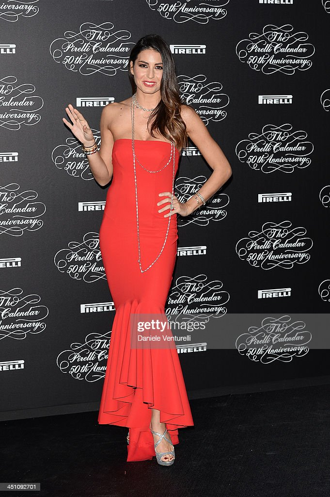 Elisabetta Gregoraci attends the Pirelli Calendar 50th Anniversary event on November 21, 2013 in Milan, Italy.