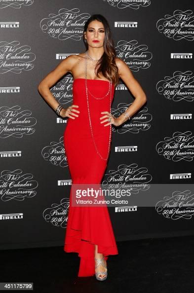 Elisabetta Gregoraci attends the Pirelli Calendar 50th Anniversary event on November 21 2013 in Milan Italy
