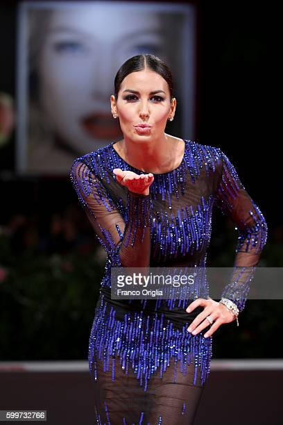 Elisabetta Gregoraci attends the premiere of 'Tommaso' during the 73rd Venice Film Festival at Sala Grande on September 6 2016 in Venice Italy