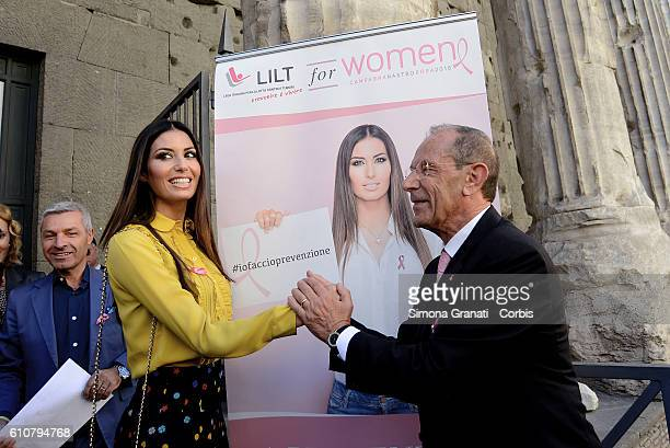 Elisabetta Gregoraci testimonial of the campaign and President of LILT Francesco Schittulli The Italian League for the Fight against Cancer presents...