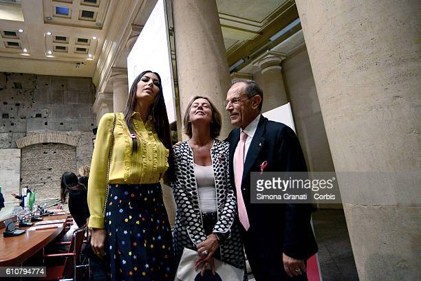 Elisabetta Gregoraci testimonial of the campaign the minister Beatrice Lorenzin and the President of LILT Francesco Schittulli present LILT for Women...