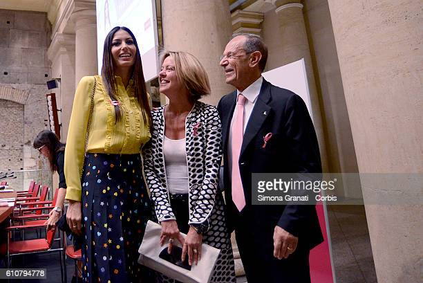 Elisabetta Gregoraci testimonial of the campaign the minister Beatrice Lorenzin and President of LILT Francesco Schittulli attend The Italian League...