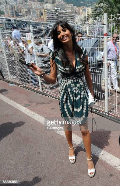 Elisabetta Gregoraci wife of Flavio Briatore arrives at the Grand Prix
