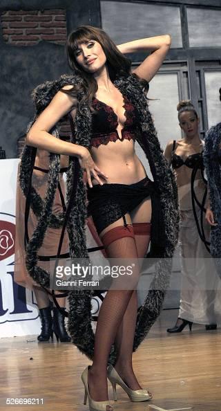 Elisabetta Gregoraci wife of Flavio Gregoraci during a parade of the Selmark lingerie brand in the 'Palacio de Congresos' of Madrid 17th October 2008...