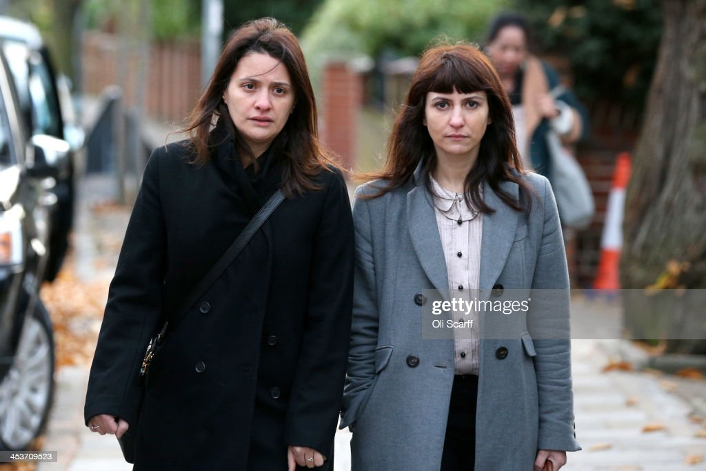Elisabetta Grillo (L) and Francesca Grillo arrive at Isleworth Crown Court on December 5, 2013 in London, England. The Italian sisters, who worked as assistants to Nigella Lawson and Charles Saatchi, are accused of defrauding them of over 300,000 GBP.