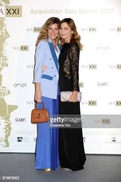 Elisabetta Pellini and Eliana Miglio attend MAXXI Acquisition Gala Dinner 2017 at Maxxi on November 13 2017 in Rome Italy