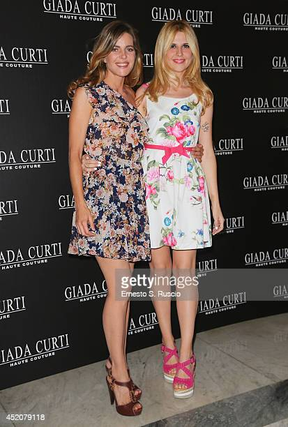 Elisabetta Pellini and Serena Iaricci attend the Giada Curti A/W 2014 Italian Haute Couture collection fashion show as part of AltaModa Fashion Week...
