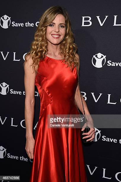 Elisabetta Pellini attends BVLGARI And Save The Children STOP THINK GIVE PreOscar Event at Spago on February 17 2015 in Beverly Hills California