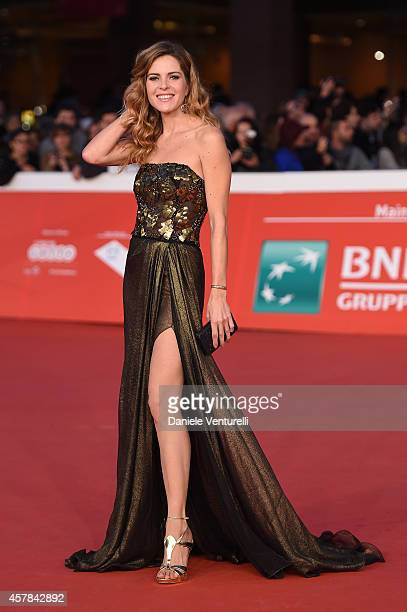 Elisabetta Pellini attends the awards ceremony red carpet during the 9th Rome Film Festival at Auditorium Parco Della Musica on October 25 2014 in...