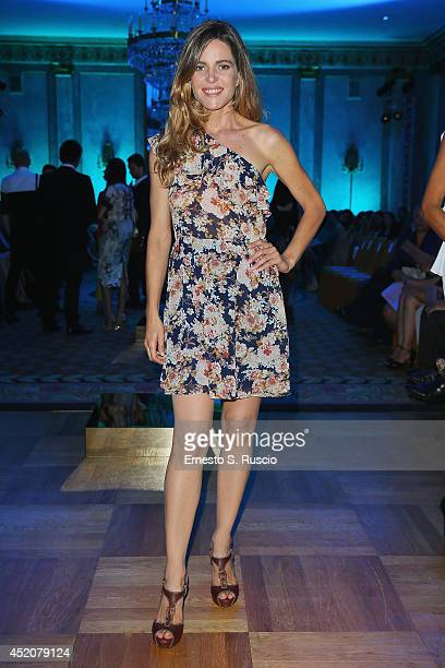 Elisabetta Pellini attends the Giada Curti A/W 2014 Italian Haute Couture collection fashion show as part of AltaModa Fashion Week on July 12 2014 in...
