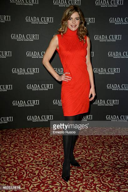 Elisabetta Pellini attends the Giada Curti fashion show as a part of AltaRoma 2015 at Hotel St Regis on January 30 2015 in Rome Italy