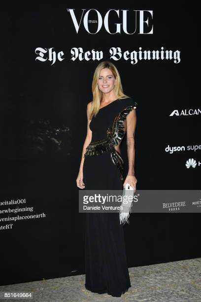 Elisabetta Pellini attends the Vogue Italia 'The New Beginning' Party during Milan Fashion Week Spring/Summer 2018 on September 22 2017 in Milan Italy