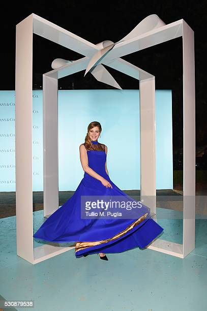 Elisabetta Pellini attends Tiffany Co celebration of the opening of its new store in Rome at at Villa Aurelia on May 11 2016 in Rome Italy