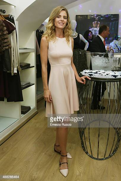 Elisabetta Pellini sighting at Vogue Fashion Night Out of Rome at Via Del Babbuino on September 11 2014 in Rome Italy