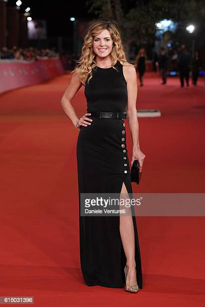 Elisabetta Pellini walks a red carpet for 'The Rolling Stone Ole' Ole' Ole' A trip Across Latin America' during the 11th Rome Film Festival at...