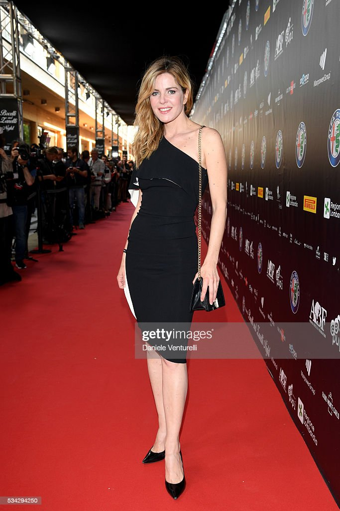 Elisabetta Pellini walks the red carpet of Bocelli and Zanetti Night on May 25, 2016 in Rho, Italy.
