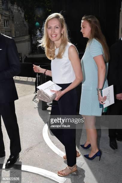 Elisabetta Rosboch von Wolkenstein is seen arriving at Valentino fashion show during the Paris Fashion Week Haute Couture Fall/Winter 20172018 on...