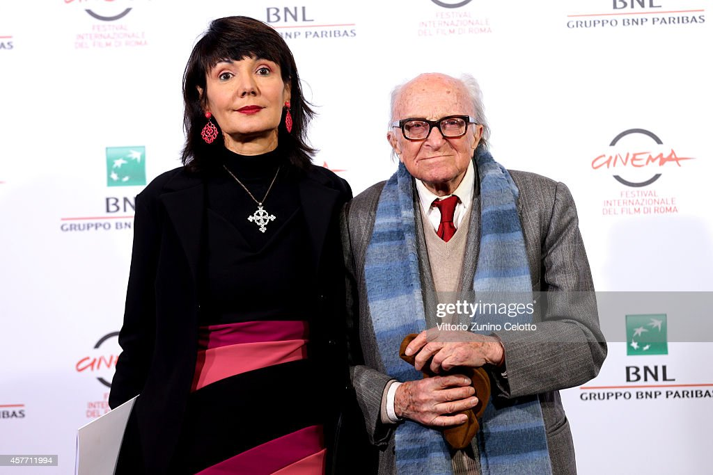 Elisabetta Sgarbi and Boris Pahor attend the 'Due Volte Delta' Photocall during the 9th Rome Film Festival on October 23 2014 in Rome Italy