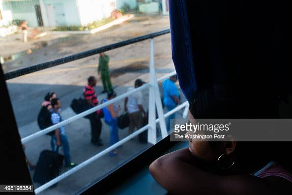 Elisdeysi Feria looks out the window as she waits for the ferry to leave the Isla de la Juventud for mainland Cuba Nueva Gerona is the capital of the...