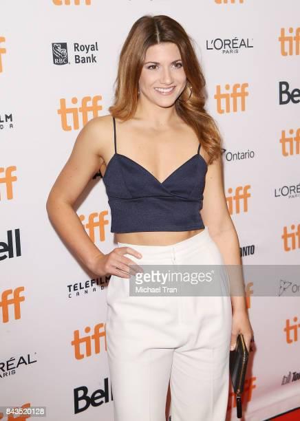 Elise Bauman arrives at the TIFF Soiree held during the 2017 Toronto International Film Festival at TIFF Bell Lightbox on September 6 2017 in Toronto...