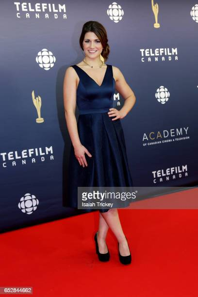 Elise Bauman attends the Academy of Canadian Cinema Television's 2017 Canadian Screen Awards at the Sony Centre for Performing Arts on March 12 2017...