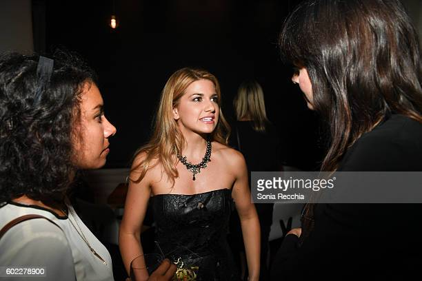 Elise Bauman attends the film premiere after party for Serendipity Point Films' 'Below Her Mouth' at Supper Suite by STK on September 10 2016 in...