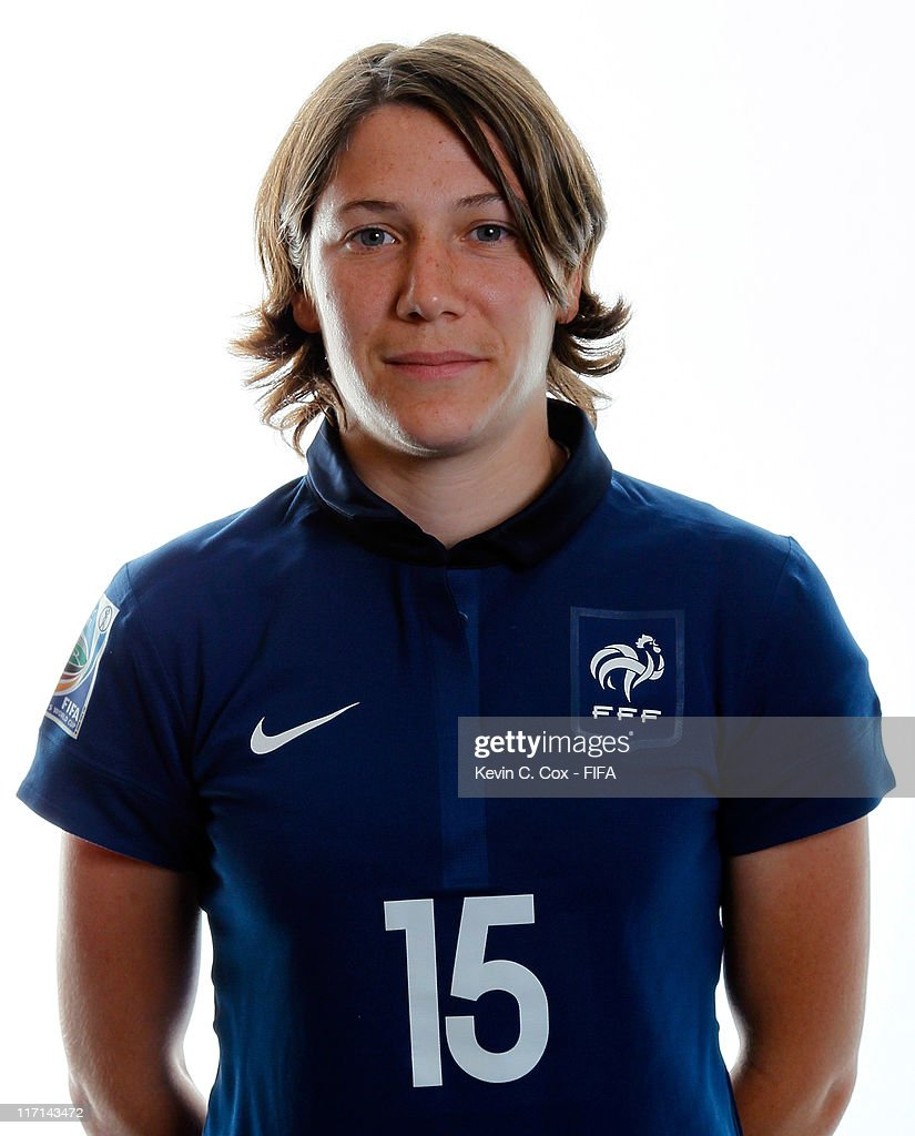 <a gi-track='captionPersonalityLinkClicked' href=/galleries/search?phrase=Elise+Bussaglia&family=editorial&specificpeople=2359308 ng-click='$event.stopPropagation()'>Elise Bussaglia</a> of France during the FIFA portrait session on June 23, 2011 in Heidelberg, Germany.