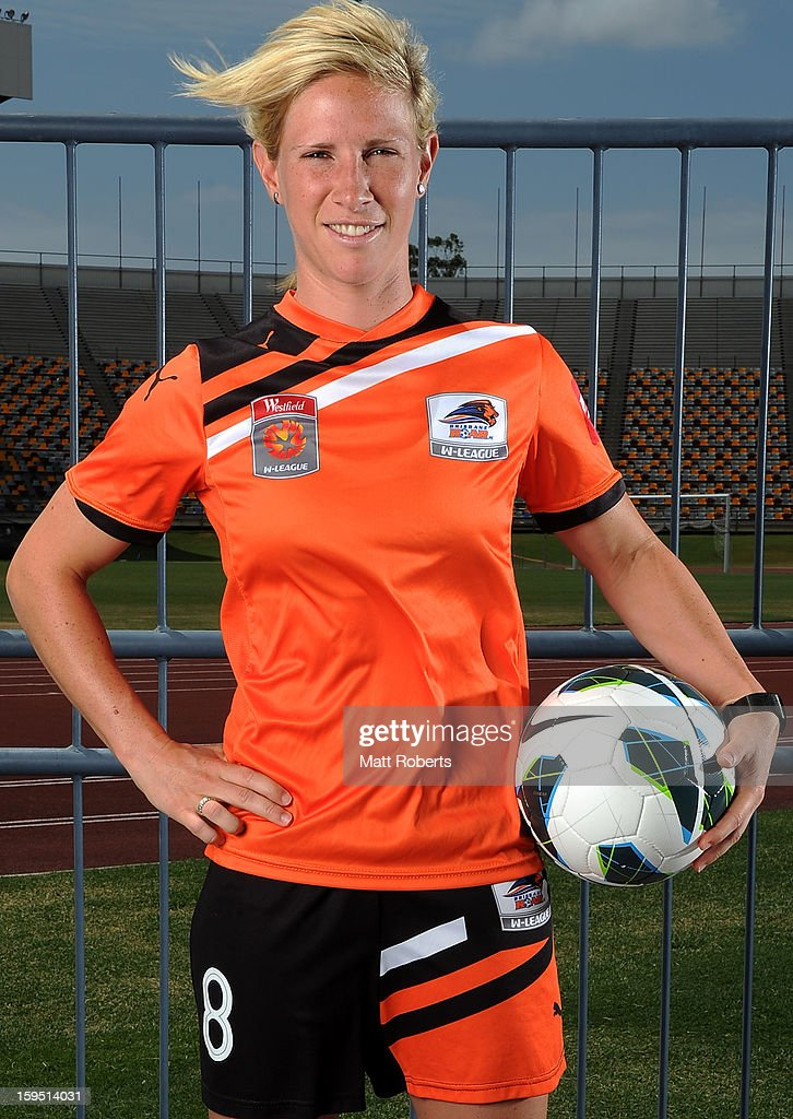 Elise Kellond-Knight of the Roar poses during the W-League FFA finals series launch at Queensland Sport and Athletics Centre on January 15, 2013 in Brisbane, Australia.