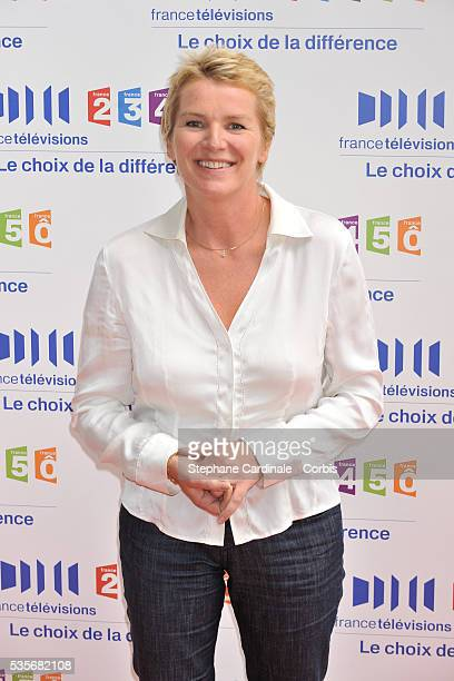 Elise Lucet attends the 'France Televisions' press conference