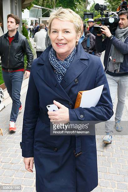 Elise Lucet attends the French Tennis Open Day Fourteen at Roland Garros on June 4 2016 in Paris France