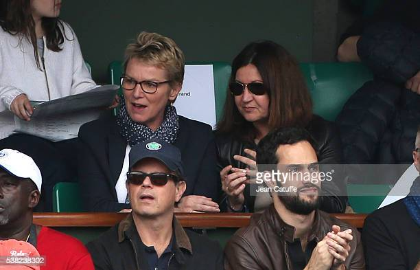 Elise Lucet attends the women's final on day 14 of the 2016 French Open held at RolandGarros stadium on June 4 2016 in Paris France
