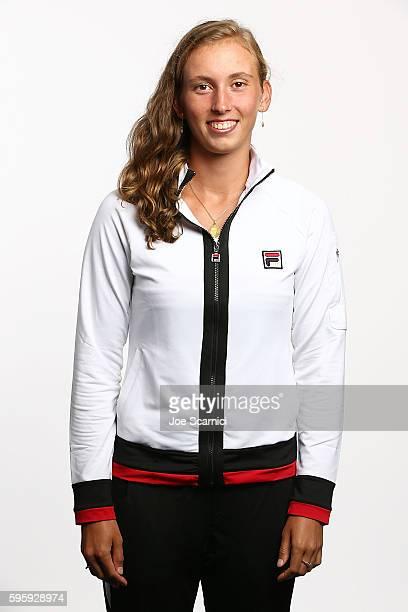 Elise Mertens of Belgium poses for a WTA Portrait at Arthur Ashe Stadium on August 26 2016 in New York City