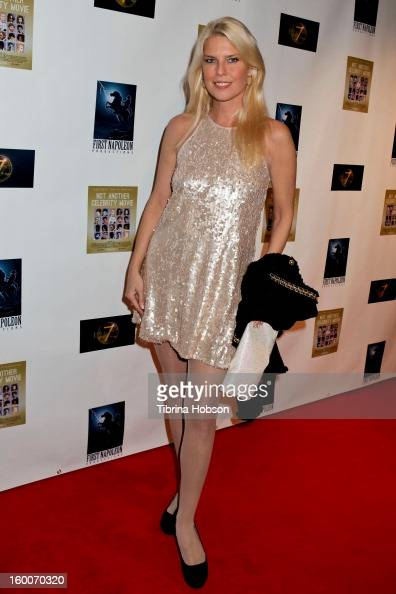 Elise Muller attends the 'Not Another Celebrity Movie' Los Angeles premiere at Pacific Design Center on January 17 2013 in West Hollywood California