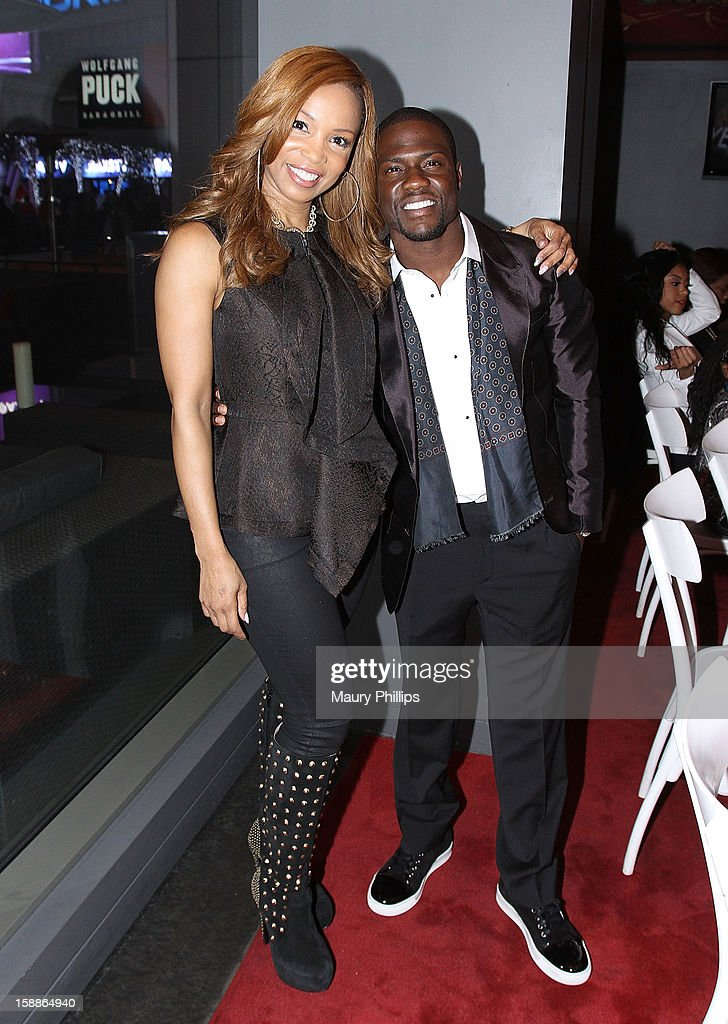 <a gi-track='captionPersonalityLinkClicked' href=/galleries/search?phrase=Elise+Neal&family=editorial&specificpeople=204780 ng-click='$event.stopPropagation()'>Elise Neal</a> and Kevin Hart attend a private dinner for Kevin Hart on December 31, 2012 in Los Angeles, California.