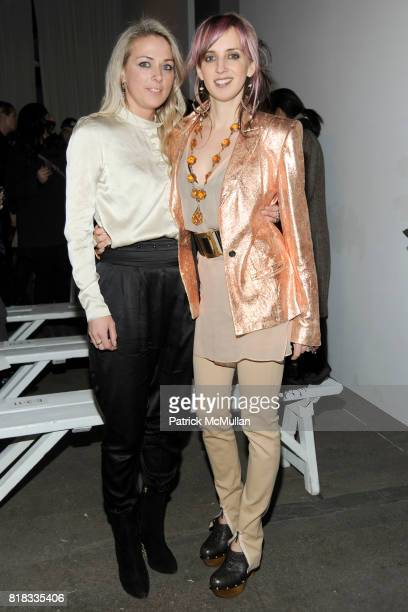 Elise Overland and Hope Atherton attend ELISE OVERLAND Fall 2010 Collection at Exit Art on February 13 2010 in New York City