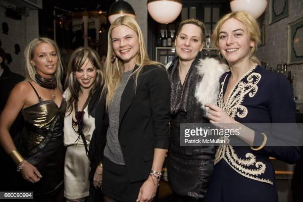 Elise Overland Hope Atherton Kate Schelter Aimee Mullins and Melissa Bent attend VILLENCY EMERGING FASHION PROGRAM Dinner for ELISE OVERLAND and...