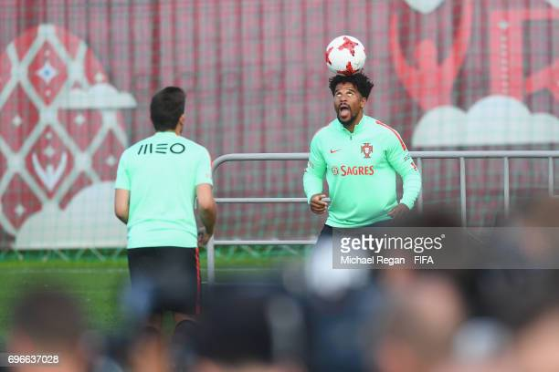 Eliseu in action during the Portugal training session on June 16 2017 in Kazan Russia