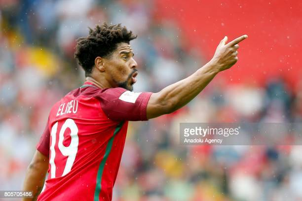 Eliseu of Portugal in action during the FIFA Confederations Cup Russia 2017 PlayOff for Third Place between Portugal and Mexico at Spartak Stadium on...
