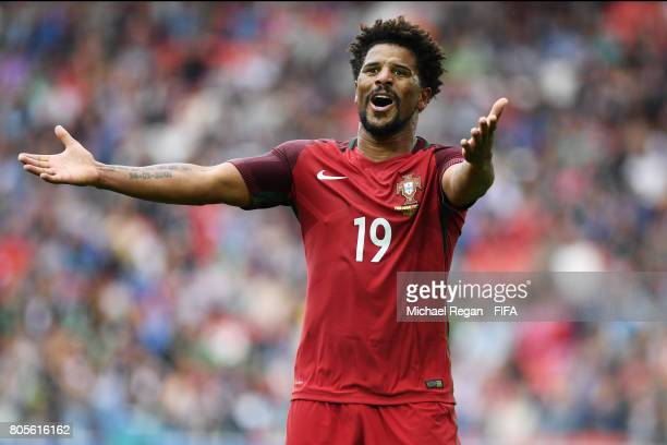 Eliseu of Portugal reacts during the FIFA Confederations Cup Russia 2017 PlayOff for Third Place between Portugal and Mexico at Spartak Stadium on...