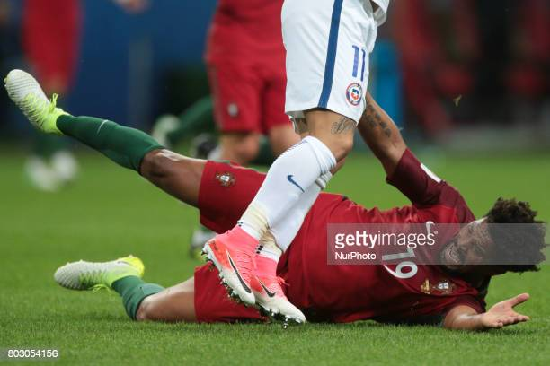 Eliseu of the Portugal national football team reacts during the 2017 FIFA Confederations Cup match semifinals between Portugal and Chile at Kazan...