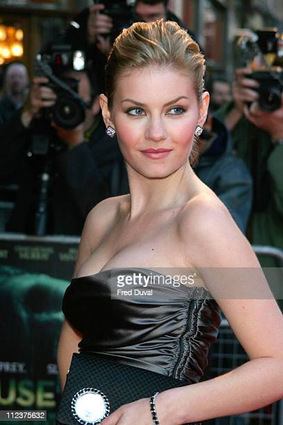 Elisha Cuthbert during 'House of Wax' London Premiere at Odeon Leicester Square in London Great Britain