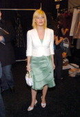 Elisha Cuthbert during Olympus Fashion Week Fall 2005 Luca Luca Front Row and Backstage at Bryant Park in New York City New York United States