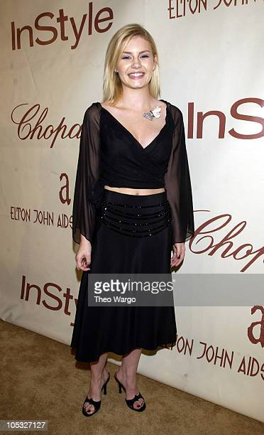 Elisha Cuthbert during The 10th Annual Elton John AIDS Foundation InStyle Party Arrivals at Moomba Restaurant in Hollywood California United States