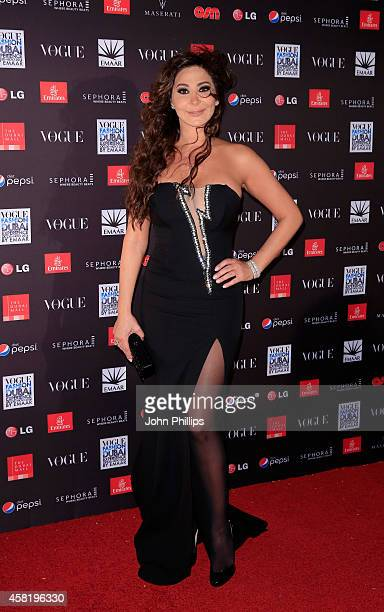 Elissa attends the Gala Event during the Vogue Fashion Dubai Experience on October 31 2014 in Dubai United Arab Emirates