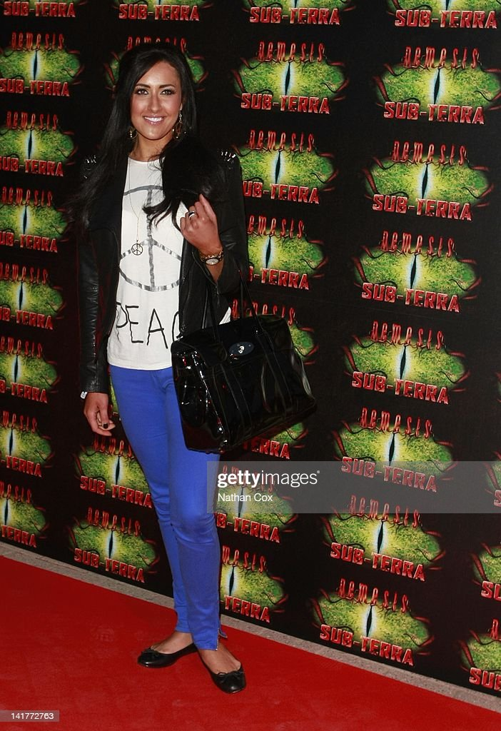 Elissa Corrigan attends the launch of Alton Towers theme park's new attraction - Nemesis Sub-Terra at Alton Towers on March 23, 2012 in Alton, England.
