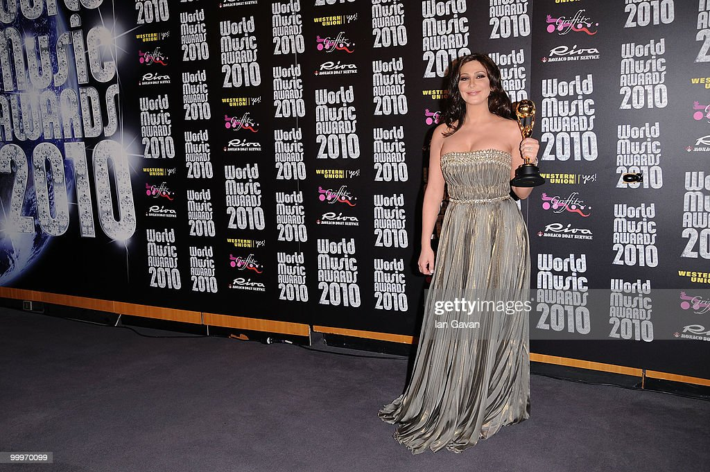 <a gi-track='captionPersonalityLinkClicked' href=/galleries/search?phrase=Elissa&family=editorial&specificpeople=641088 ng-click='$event.stopPropagation()'>Elissa</a> during the World Music Awards 2010 at the Sporting Club on May 18, 2010 in Monte Carlo, Monaco.