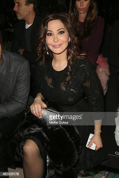 Elissa Khoury attend the Elie Saab show as part of Paris Fashion Week Haute Couture Spring/Summer 2015 on January 28 2015 in Paris France