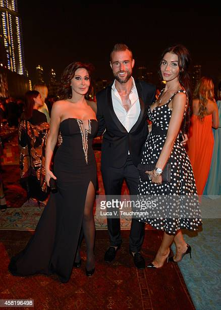 Elissa Philipp Plein and guest at the Gala Event during the Vogue Fashion Dubai Experience on October 31 2014 in Dubai United Arab Emirates